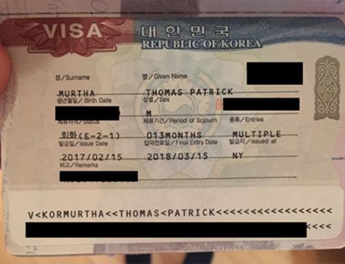 The South Korean visa process for English language teachers