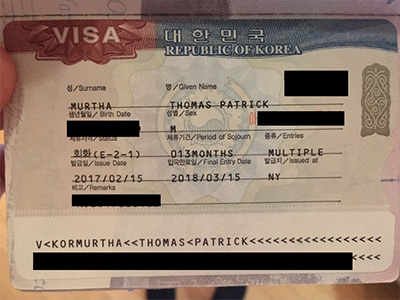 Korean E-2 visa guide